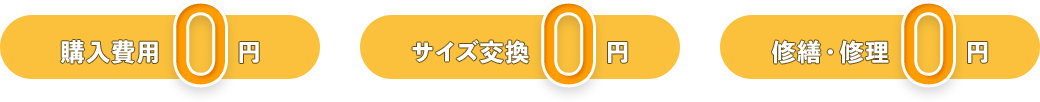 レンタルユニフォームならば購入費用0円、サイズ交換0円、修繕修理も0円です