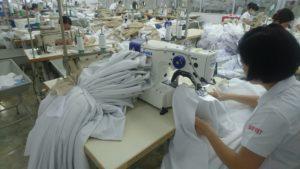 特殊な技術での縫製作業